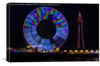 Central Pier Blackpool, Canvas Print