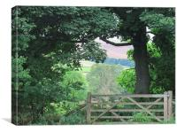 The countrysides View from the Gate, Canvas Print