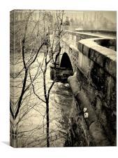 Old Garrion Bridge, Canvas Print
