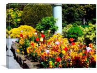 Colourful Gardens of Rememberance, Canvas Print