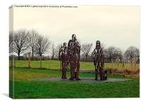 Bare trees , bare statues !, Canvas Print