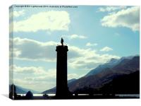 Glenfinnan Monument in Silhouette, Canvas Print