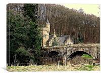 Mauldslie Bridge and Gatehouse, Canvas Print