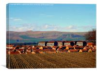 Rooftops and Campsie Hills, Canvas Print