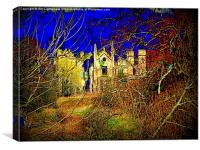 Cambusnethan Priory , a Haunted Look, Canvas Print