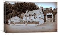 Tobermory Distillery , Mull, Canvas Print