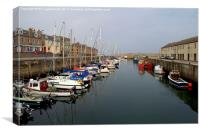 Lossiemouth East Harbour, Canvas Print