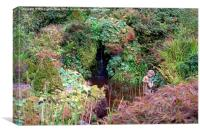 Pond in the Garden, Canvas Print