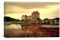Painted Eilean Donan Castle, Canvas Print