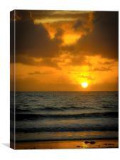Sunrise in Queensland, Canvas Print