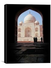Spying on the Taj Mahal, Canvas Print