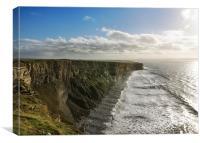Unbroken Cliffs, Canvas Print