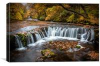 Pontneddfechan Waterfalls, Canvas Print
