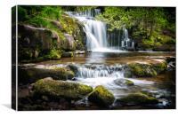Blaen y Glyn Waterfalls, Canvas Print