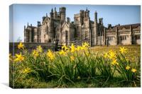 Castle Flowers, Canvas Print