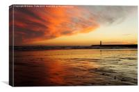 Sunderland Roker Pier River Wear, Canvas Print