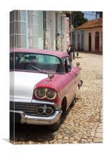 Cuban Car 1, Canvas Print
