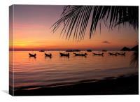 Thailand Sunset, Canvas Print