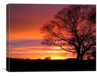 Derbyshire Sunset, Canvas Print