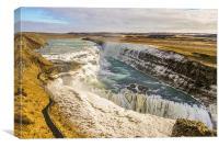 Gullfoss Waterfall, Canvas Print