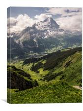 Eiger North Face, Canvas Print