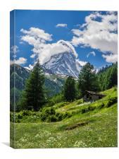 Matterhorn Hut, Canvas Print