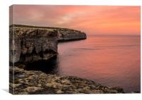 Gozo Sunset, Canvas Print