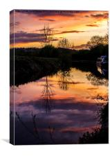 Canal Sunset, Canvas Print