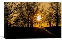 Evening Stroll, Canvas Print
