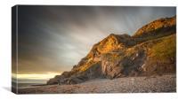 Aberystwyth Cliff, Canvas Print