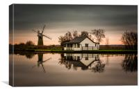 Thurne River Reflection, Canvas Print