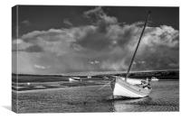 Storm at the Staithe, Canvas Print