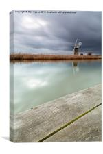 Storm at the mill, Canvas Print