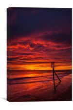 Fire in the sky, Canvas Print