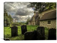 St Peters Churchyard, Woodmancote, Canvas Print
