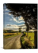 The Road to Small Dole, Canvas Print
