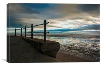 St Annes Beach From the Promenade, Canvas Print