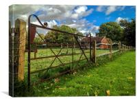 Field Gate in Henfield, Canvas Print