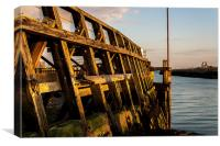 Pier in Shoreham Harbour Basin, Canvas Print