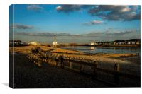 Shoreham Harbour Basin at dusk, Canvas Print