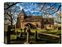 St Peters Church, Twineham, West Sussex, England, Canvas Print