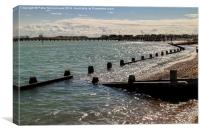 High Tide at Shoreham Harbour, Canvas Print