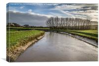 River Adur at Upper Beeding, Canvas Print