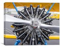 Biplane engine, Canvas Print
