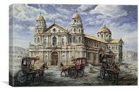Quiapo Church 1900s, Canvas Print