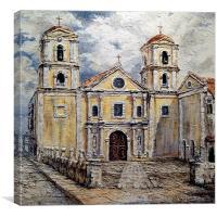 San Agustin Church 1800s, Canvas Print