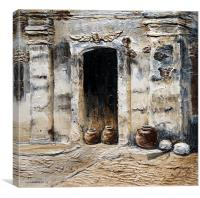 Vigan Door, Canvas Print