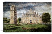 Paoay Church, Canvas Print