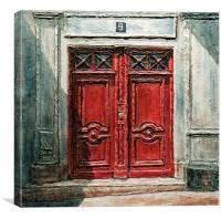 Parisian Door No.9, Canvas Print