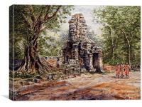 Angkor Temple Gate, Canvas Print